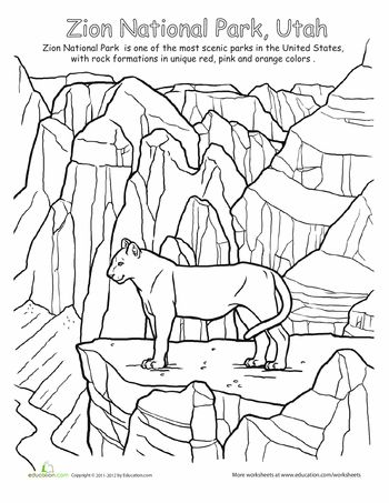 7 best National Parks Worksheets images on Pinterest