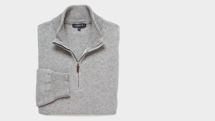 The Light Grey Heather Ashton Half Zip