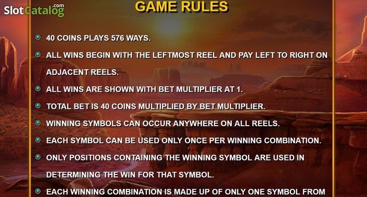 Paytable 5. Wild Catcher(Video SlotfromWild Streak Gaming)