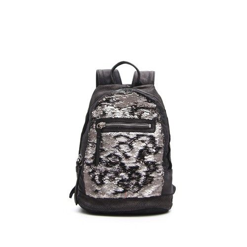 MULTIMATERIAL BACKPACK WITH SEQUINS