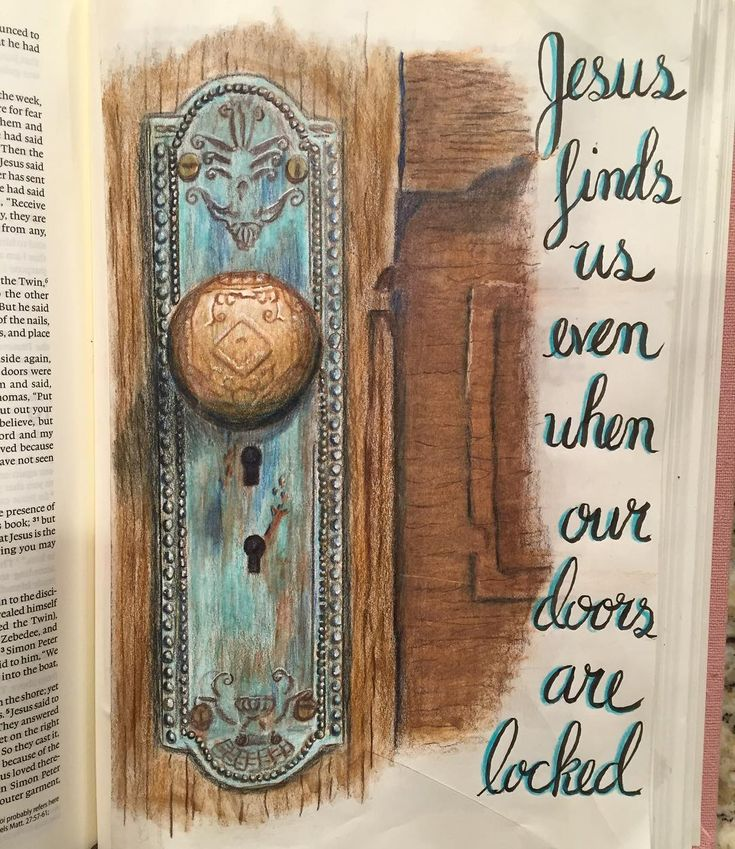 Jean 20 In John 20:19 The disciples were hiding behind locked doors when Jesus came and stood among them. Jesus also enters the locked places of our lives. Our doors may not be locked because of fear but possibly because of guilt, hurt, loss, anger, unforgiveness, bitterness, or shame. We lock our doors from the inside but Jesus can enter our locked places. He can help us open our doors and release the things that keep us in bondage. If the grave could not hold him sure