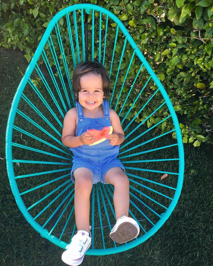We love it when kids enjoy our Acapulco Chairs! Don't worry about those sticky fingers, our Acapulco chairs are very easy to clean.