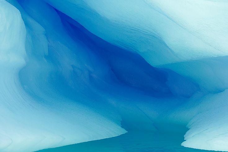 Blue ice cave in iceberg, Paradise Bay, Antarctica  Image Copyright 2007: Arthur Morris/BIRDS AS ART