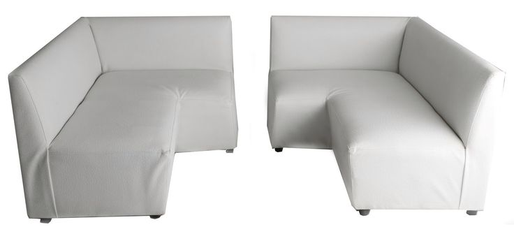 corner couch left and right combination white