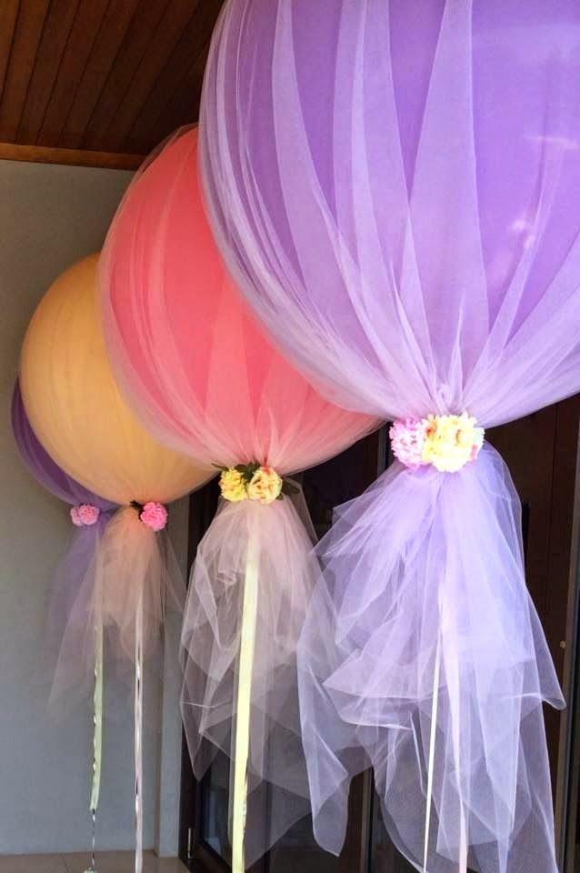 Decoração com tule para festinhas infantis