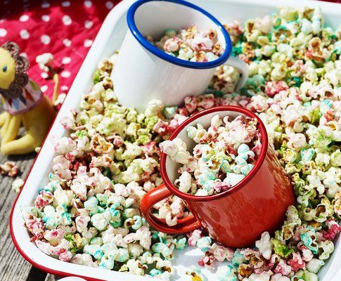 Regenbogen-Popcorn