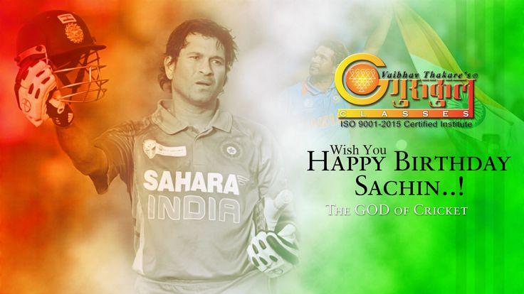 "#GurukulScienceClasses ""Wish You Happy Birthday Sachin"" !! The God of Cricket !! ------------------------------------------------------------------------- Kalyan Branches Kalyan Branch (H.O) : 2203922 I 2300632 Vrindavan Palm : 9224766873 Kolsewadi Branch Kalyan (E) : 9833546094 / 8291487837 ------------------------------------------------------ Bhiwandi Branches Mandai (Navi Chawl) : 9225155158   224055 Dhamankar Naka : 9503757959   224044…"