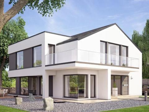 Hausbau Modern Satteldach