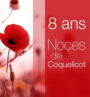 8 ans Noces de Coquelicot