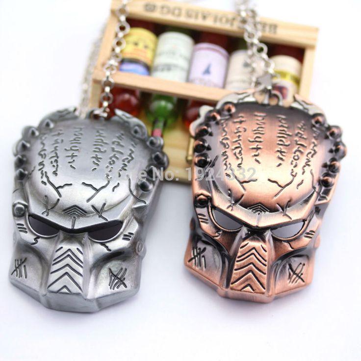 Avp : чужой против хищника маска ожерелья сплава цинка античная медь и античная серебряный кулон для мужчин
