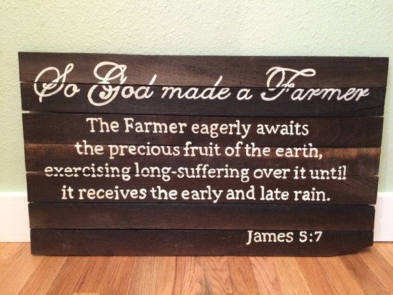 So God Made a Farmer Sign by BlondeSalvage on Etsy