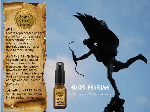 EROS organic perfume oil elixir 10ml by AncientGreekElixirs, €14.00