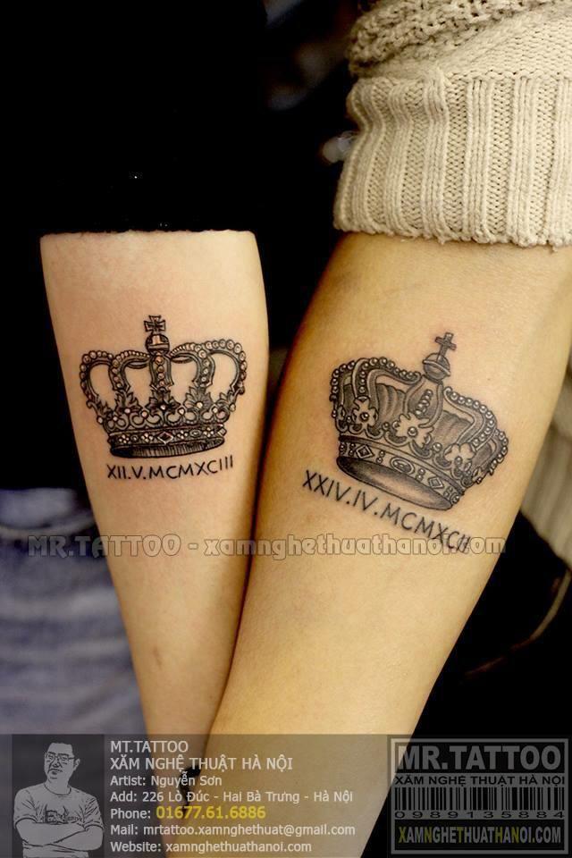 hình xăm vương miện ( crown tattoo )