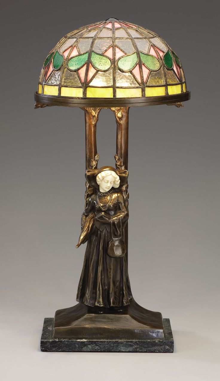 1612 best table lamps images on pinterest table lamps auction an art nouveau bronze and ivory table lamp peter tereszczukukrainian 1875 geotapseo Gallery