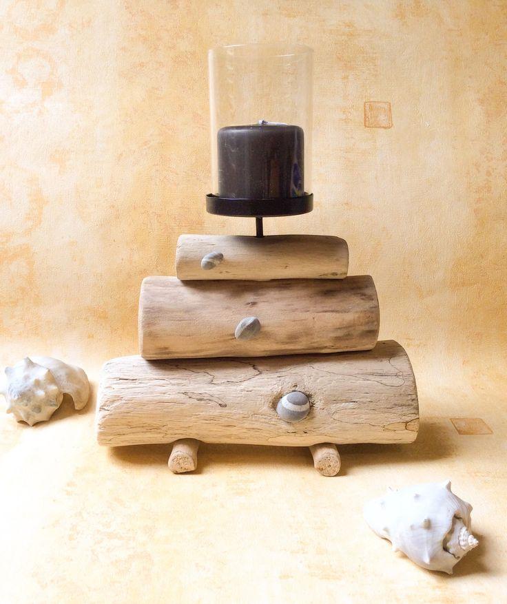 Les 25 meilleures id es de la cat gorie bougeoirs en bois sur pinterest sup - Bois flotte montreal ...