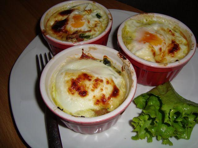 La buona cucina di katty: Scodelline di uova e spinaci