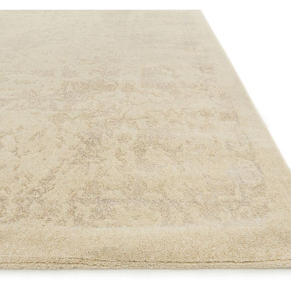 """Sanura Area Rug - Antique Ivory/Beige, 3'3"""" x 5'3"""" ($299) ❤ liked on Polyvore featuring home, rugs, hand knotted rugs, cream colored area rugs, cream colored rugs, hand-knotted rug and ivory area rug"""
