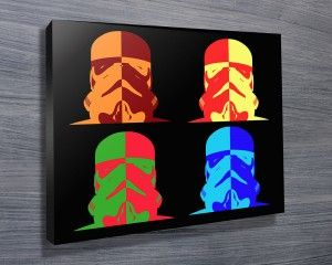 STAR WARS WARHOL POP ART $26.00–$741.00 This is another Star Wars Pop Art piece in Andy Warhol style featuring bold colours against a black background. As with all art on this site, we offer these prints as stretched canvas prints, framed print, rolled or paper print or wall stickers / decals. http://www.canvasprintsaustralia.net.au/  #PhotosoncanvasAustralia #Stretchedcanvas #Gicleeprint