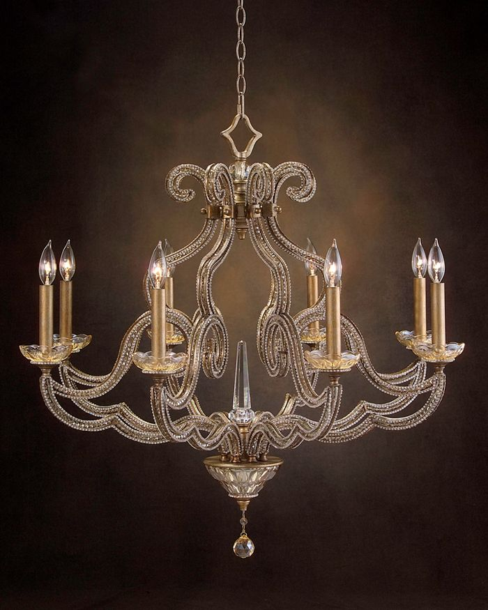 John Richard Ajc 8680 34 H X W Eight Light Chandelier Candelabra