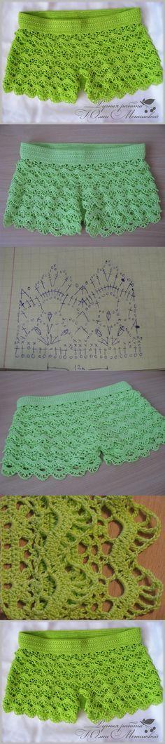 Crochet so beauty shorts, crochet pattern. http://make-handmade.com/2013/12/18/crochet-so-beauty-shorts-crochet-pattern/