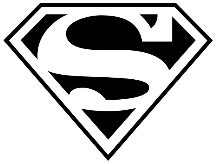 Dibujo de logotipo de Superman.