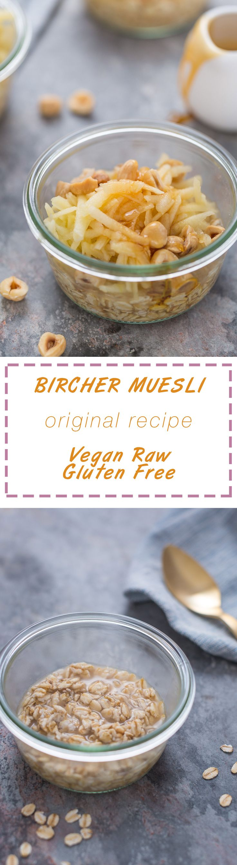 Original #Vegan BIRCHER MUESLI - with #apples and #oats Swiss recipe #detox  - Ricetta originale BIRCHER MUELI - avena con mele e nocciole o mandorle