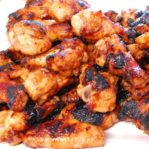 Cambodian Grilled Ginger Chicken Wings. Traditional street food you are likely to find on FOOD TOUR from Viator. Find out more at: http://www.allaboutcuisines.com/food-tours/cambodia/in/cambodia #Cambodian Recipes #Cambodian Food #Travel Cambodia