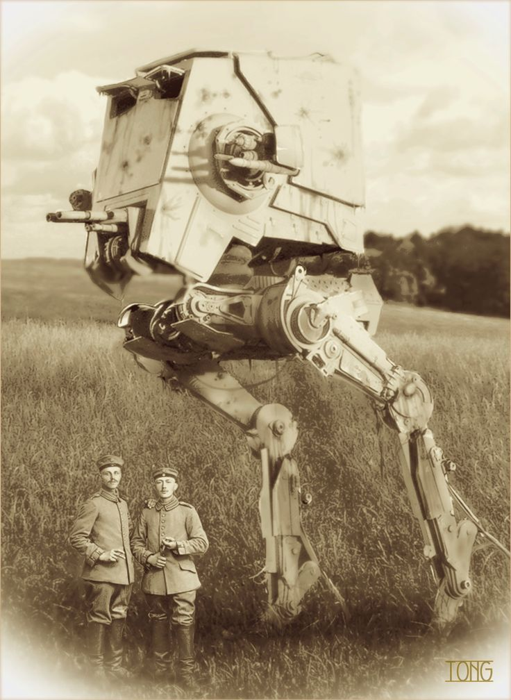 Group shot with AT-ST at the Western Front 1916