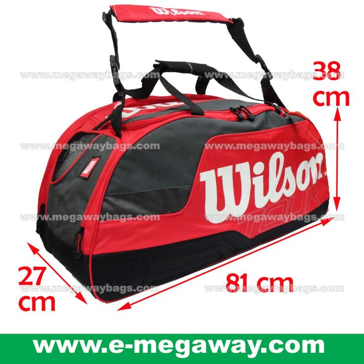 #Wilson #WilsonSports #Tennis #Professional #Coach #Team #Player #Red #Racket #Squash #Badminton #Racquet #Bags #Duffel #Megaway #MegawayBags #CC-1375, Sporting Gear, Athletic & Sports Clothing on Carousell
