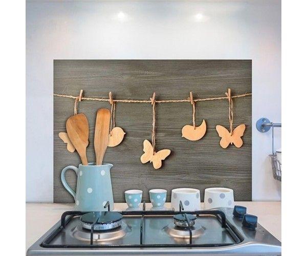 Schienala adesivo cucina Farfalle - Protezione per retrofornelli
