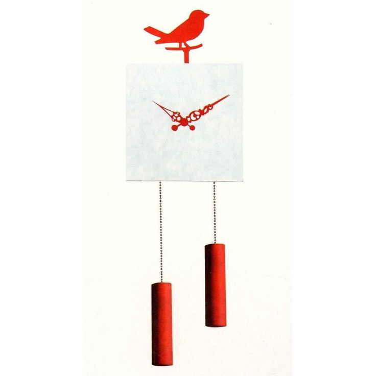 INVOTIS DESIGNER WIL VAN DEN BOS MOVING BIRD PENDULUM MIRROR WALL CLOCK