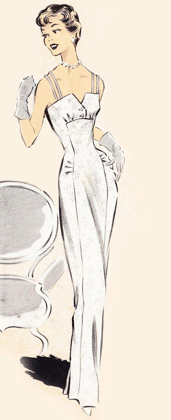 Vintage Sewing Pattern 1950's Cocktail or Wedding by Mrsdepew