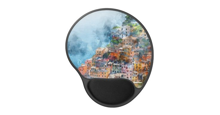 Cinque Terre Italy… mousepads, travel mousepads, international mousepads, gel mousepads, ergo mousepads, art mousepads, watercolor mousepads