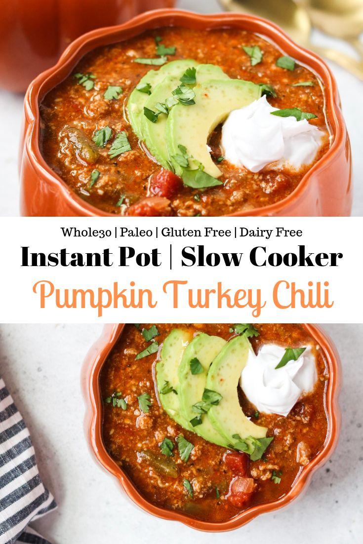 Instant Pot Pumpkin Turkey Chili
