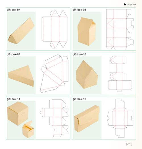 Awesome box templates!! ifyouwantitdoneright: truebluemeandyou: DIY Gift Boxes. From the book: かわいいラッピング素材BOOK. Template at Hello Sandwich...