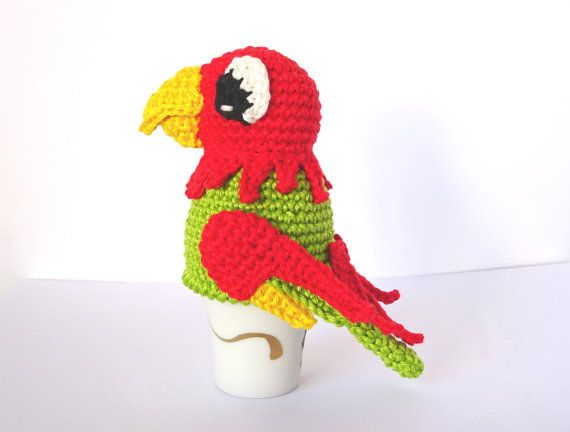 Crochet Parrot Egg Cozy Pattern PDF by SpringFreshness on Etsy
