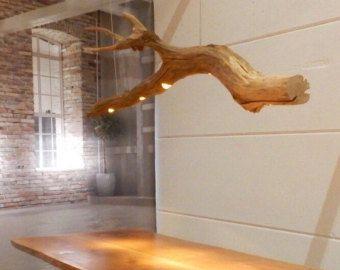 Lampada da tavolo a LED tronco d'albero lampada di GBHNatureArt