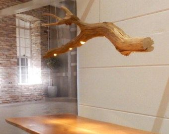 Oak branch Ceiling light with four lights. by GBHNatureArt on Etsy