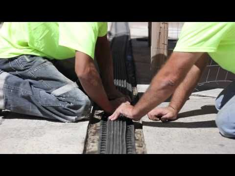How to install winged parking expansion joint system--THERMAFLEX from EMSEAL - YouTube