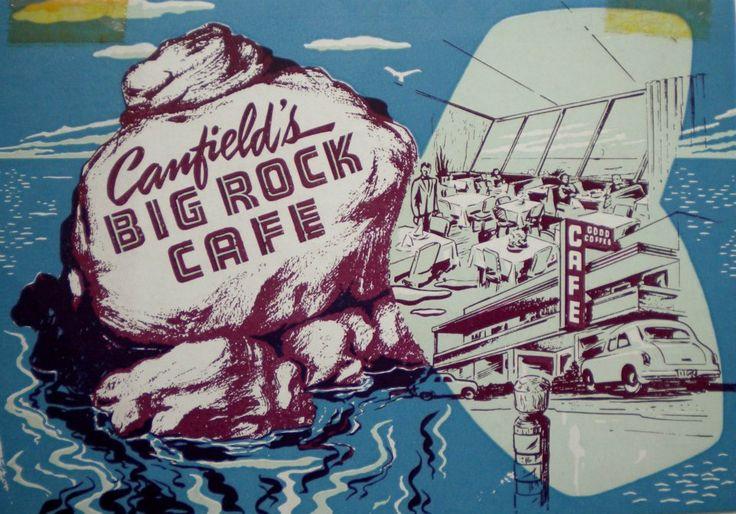 Canfield's Big Rock Cafe Menu Vintage menu, Malibu