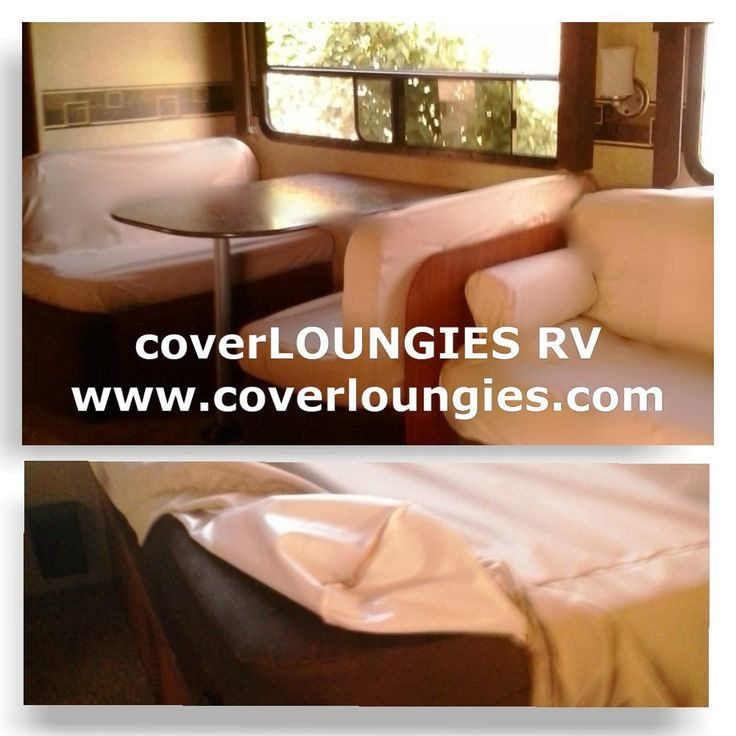 CoverLOUNGIES for RVs. Keep your cushions free of wet swimsuits and sand.