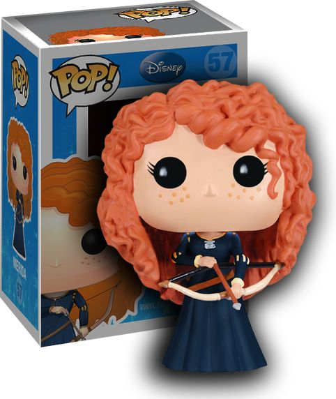 Now Merida, the red-headed protagonist from the movie 'Brave' is available in Pop! Vinyl form! Perfect for every 'Brave' fan! Proudly brought to you by Popcultcha - Australia's largest and most comprehensive Pop! Vinyl Online Store. Clickhereto see our full range of Pop! Vinyl collectables.