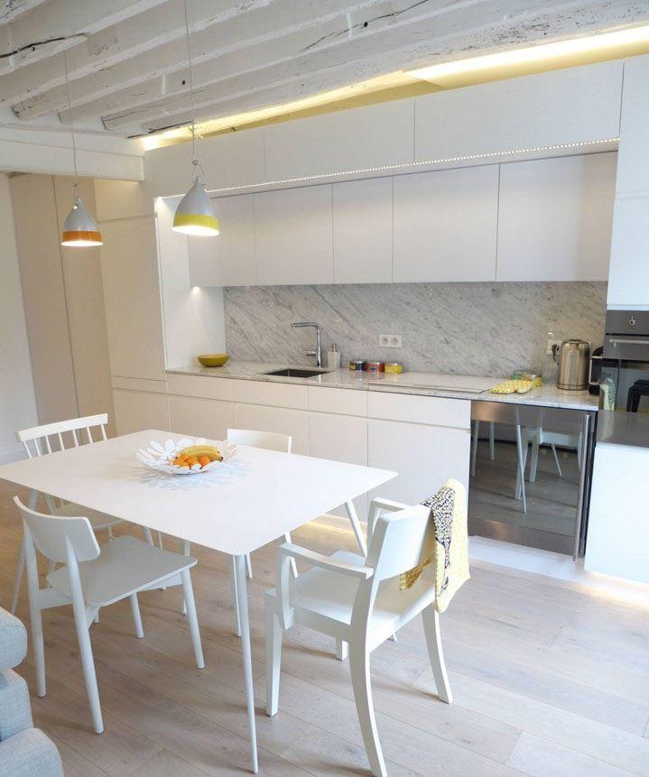 Cuisine Blanche 38 Idees Pour Une Cuisine Lumineuse Cuisines Design Cuisine Blanche Et Cuisine Contemporaine