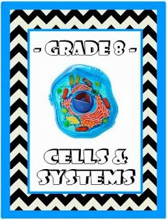 grade 8 science curriculum Manitoba, grade 8 science, teaching about cells, teaching about body systems, cells and systems resources, grade 8 science resources