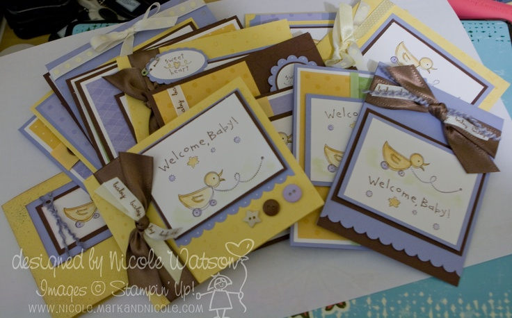Baby Cards - Bundled in Love by Stampin Up