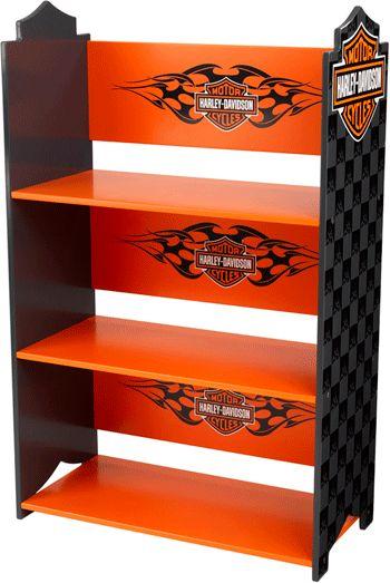 harley davidson kid bedrooms | kids storage harley davidson bookcase our new harley davidson ...