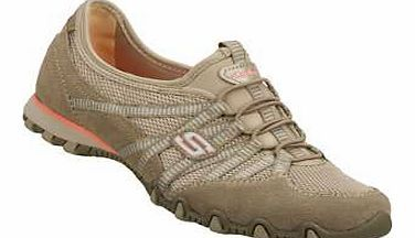 Skechers Biker Pump Get a front row seat to sporty style with the Skechers Bikers Hot Ticket shoe. Soft suede and mesh fabric upper in a slip on casual sneaker with stitching and overlay accents. Criss-crossing side stri http://www.comparestoreprices.co.uk/womens-shoes/skechers-biker-pump.asp