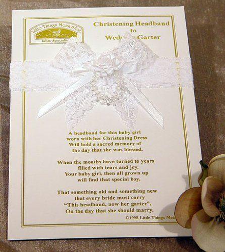 neat idea for grandbabies Christening Headband to Wedding Garter, Color: White Little Things Mean A Lot,http://www.amazon.com/dp/B002NGH4QW/ref=cm_sw_r_pi_dp_brBqsb0TPKCNSMM6
