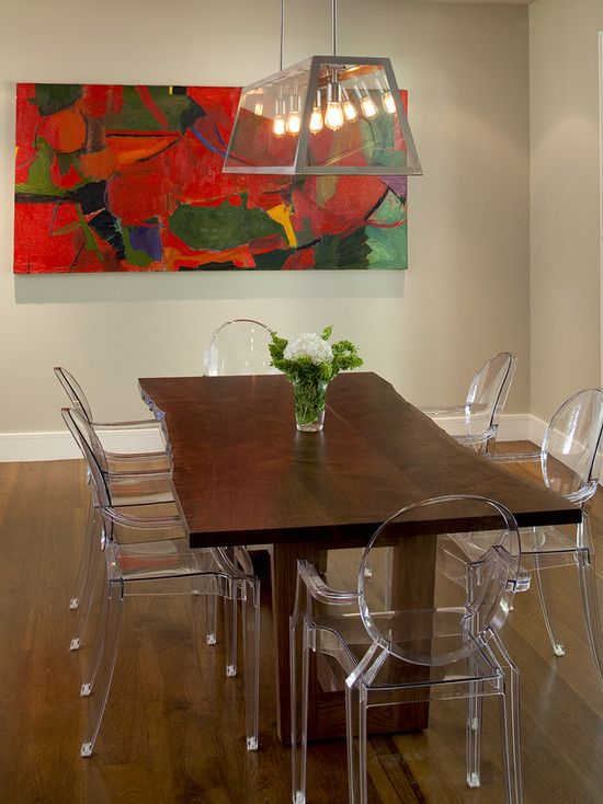 Dining Room Design, Cool Contemporary Dining Room With Natural Shape Dining  Table Made By Teak