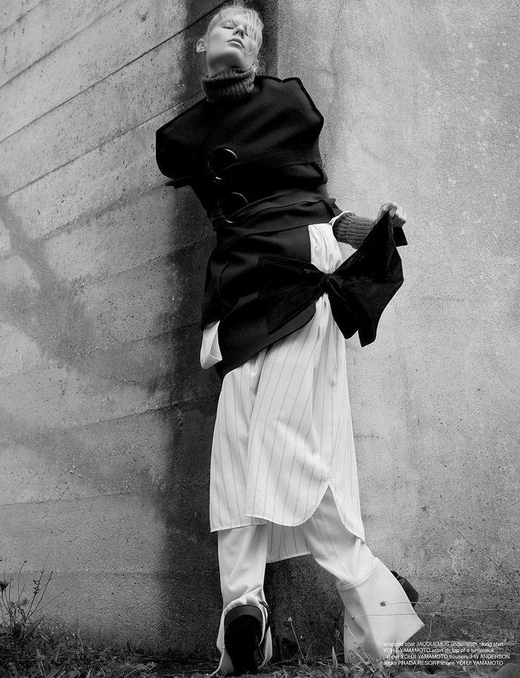 model alexandra elizabeth ljadov is lensed by thomas lohr in i now liked what i saw stylist camille bidault waddington chooses modern intellectual